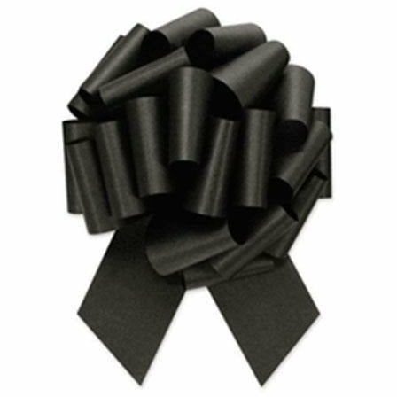 Black Pull Bow 8in