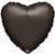 "049 Black HX Heart 19"" Mylar Balloon"