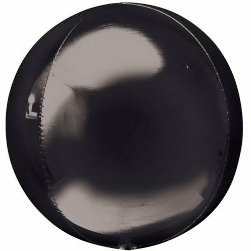 "090 Black Orbz 16"" Mylar Balloon"