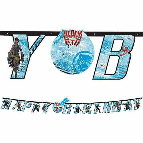 Black Panther Birthday Banner Kit