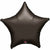 "025 Black Star 19"" Mylar Balloon"