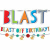 Blast Off Birthday Banners 2ct