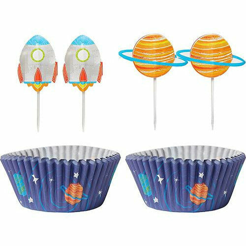 Blast Off Cupcake Decorating Kit for 24
