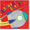 Blast Off Birthday Lunch Napkins 16ct