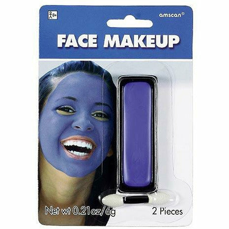 Blue Face Paint Makeup