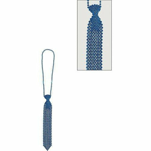 Blue Tie Bead Necklace