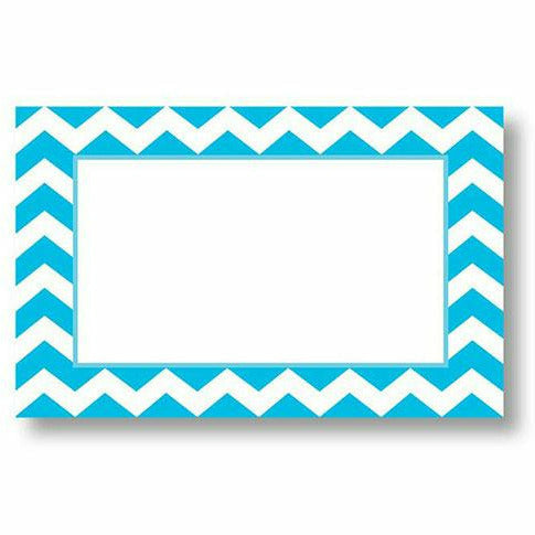 Blue and White Chevron Border Card