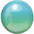 "074 Blue & Green Ombre Orbz 16"" Mylar Balloon"