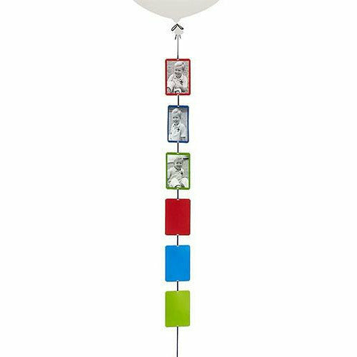 Blue, Green & Red Photo Balloon Weight Tail
