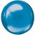"087 Blue Orbz 16"" Mylar Balloon"