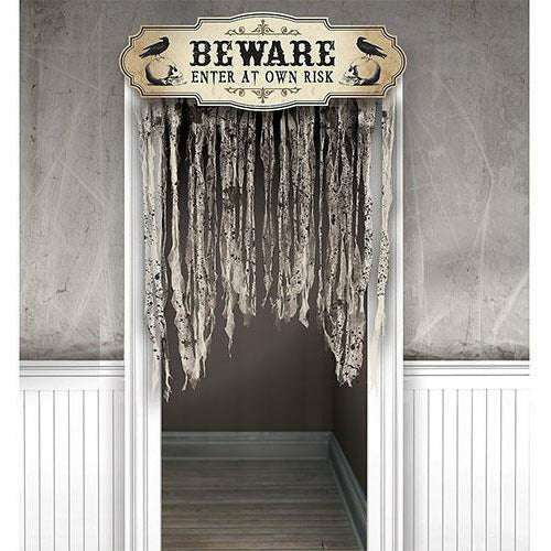 Boneyard Beware Doorway Curtain