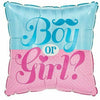 "525 Gender Reveal Boy or Girl 17"" Mylar Balloon"
