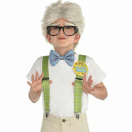 Boys 100th Day of School Grandpa Costume Accessory Kit