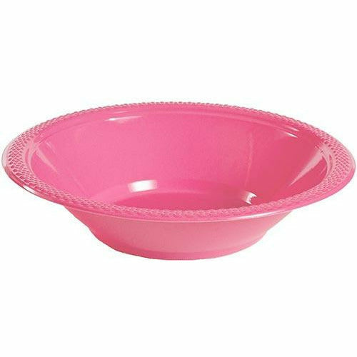 Bright Pink Plastic Bowls 20ct