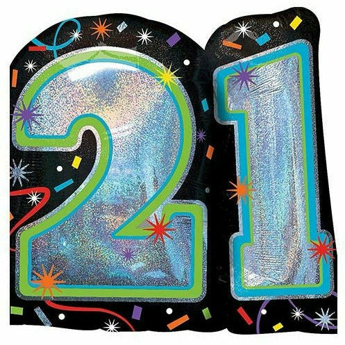 "360 Brilliant 21st Birthday Jumbo 25"" Mylar Balloon"