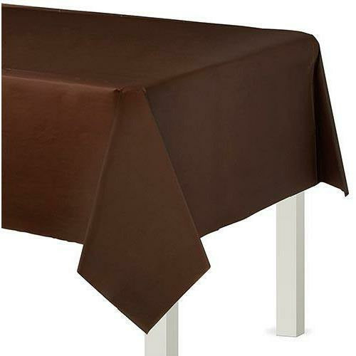 Chocolate Brown Plastic Table Cover 54x108