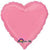 "038 Bright Bubblegum Pink HX Heart 19"" Mylar Balloon"