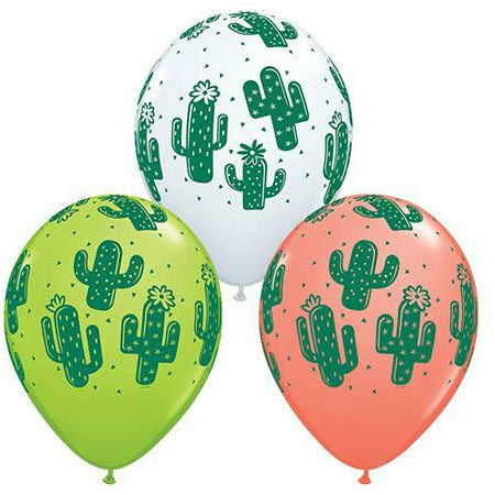 "Cacti Mixed Assortment 11"" Latex Balloon"