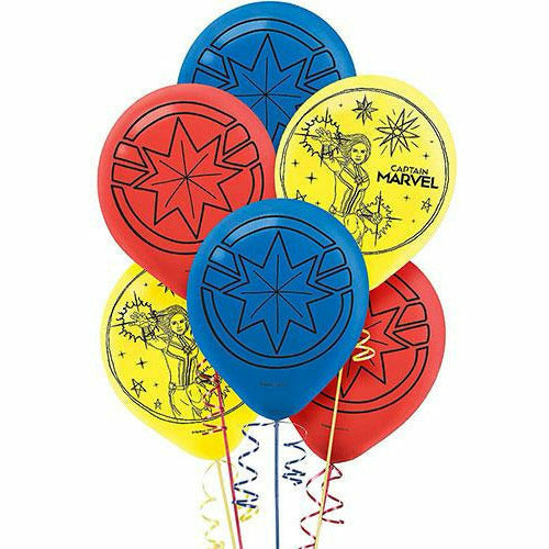 Captain Marvel Balloons 6ct