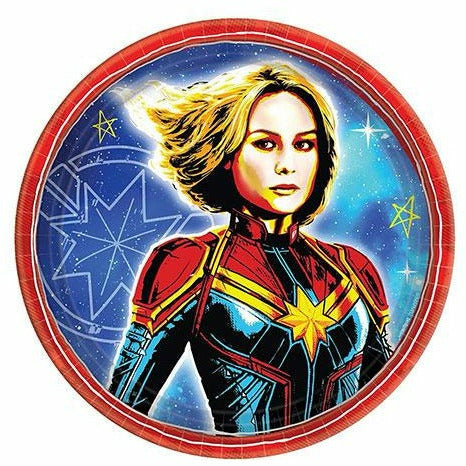 Captain Marvel Dessert Plates 8ct
