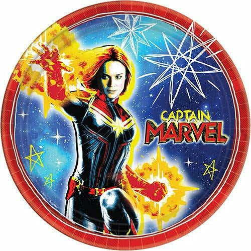 Captain Marvel Lunch Plates 8ct