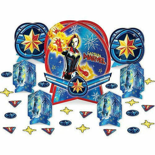 Captain Marvel Table Decorating Kit 27pc