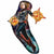 "190 Captain Marvel Jumbo 37"" Mylar Balloon"
