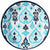 Caribbean Blue Ikat Lunch Plates 8ct