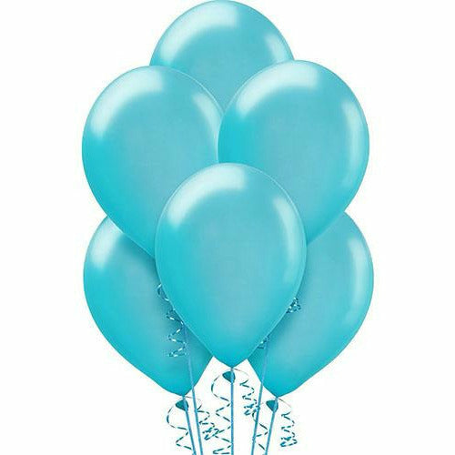 Caribbean Blue Pearl Balloons 15ct