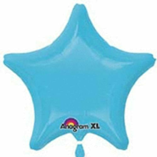 "018 Caribbean Blue Star 19"" Mylar Balloon"