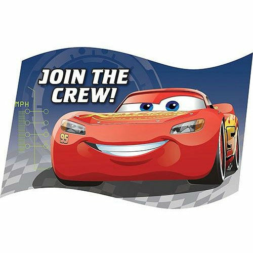 Cars 3 Invitations 8ct