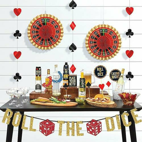 Roll the Dice Casino Bar Decorating Kit 29pc