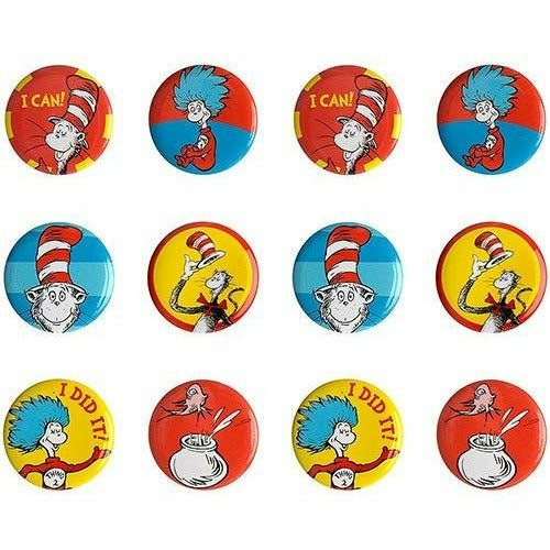 Cat in the Hat Buttons 12ct - Dr. Seuss