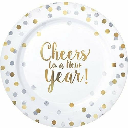 Cheers to a New Year Premium Plastic Dinner Plates 10ct