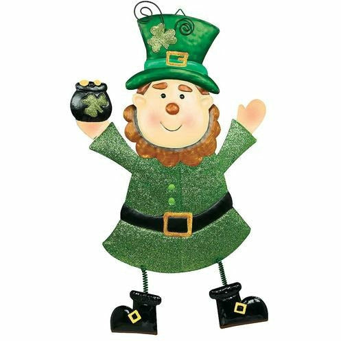 Cheery Leprechaun Metal Hanging Sign