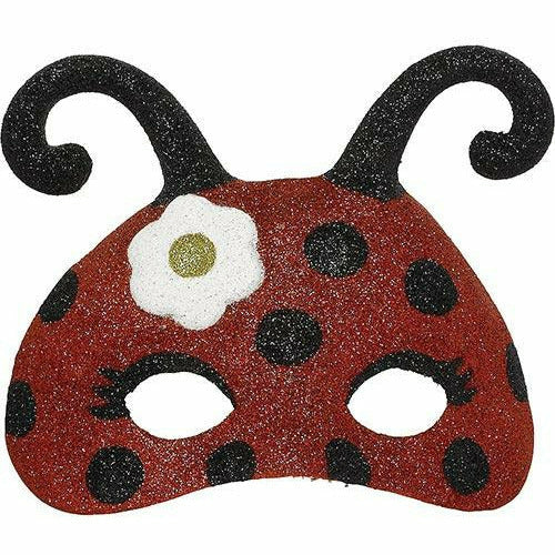 Child Glitter Ladybug Mask