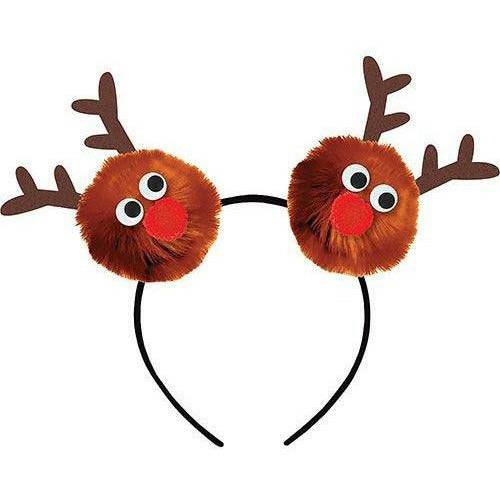 Child Reindeer Pom-Pom Headband