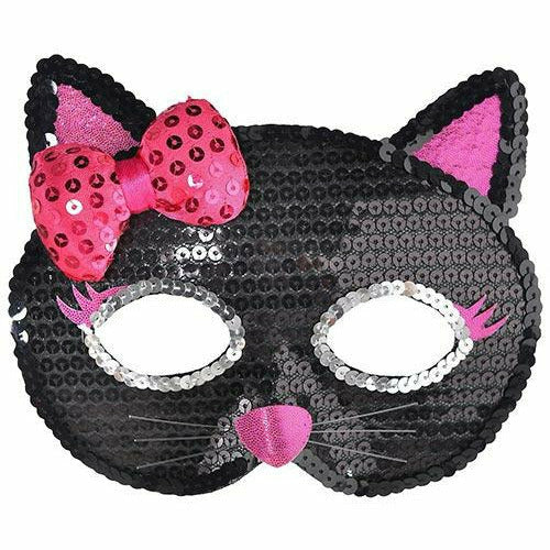 Child Sequin Black Cat Mask
