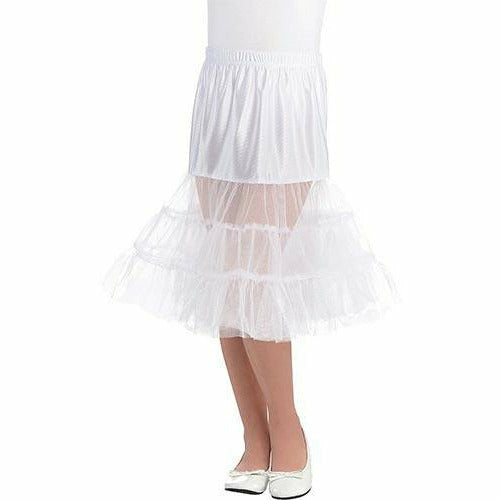 Adult plus XXL White Knee Length Petticoat