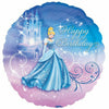 "C003 Cinderella Happy Birthday 18"" Mylar Balloon"