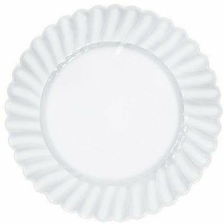 CLEAR Premium Plastic Scalloped Lunch Plates 12ct