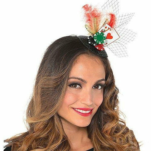 Clip-On Roll the Dice Casino Fascinator Hat