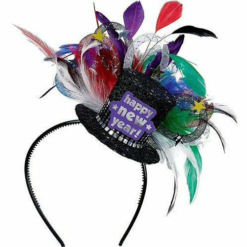 Colorful Feather Hat Headband