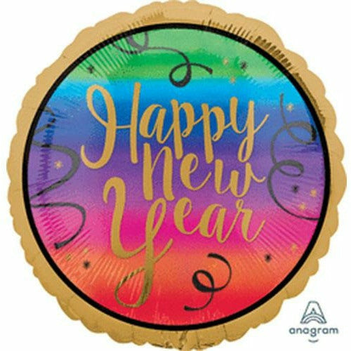 "Happy New Year Colorful 18"" Mylar Balloon"