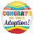 "537 Rainbow Congrats on Your Adoption 17"" Mylar Balloon"