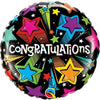 "590 Shooting Stars Congratulations 18"" Mylar Balloon"