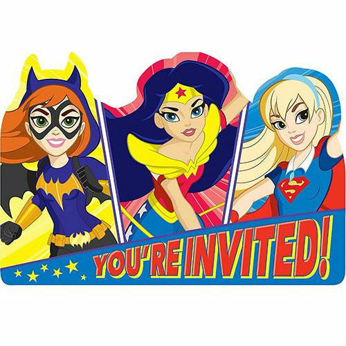 DC Super Hero Girls Invitations 8ct