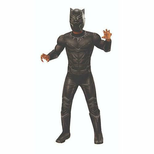 Boys Black Panther Deluxe Muscle Chest Costume