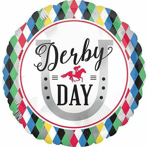 "Derby Day 17"" Mylar Balloon"
