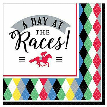 Harlequin Derby Day Beverage Napkins 16ct